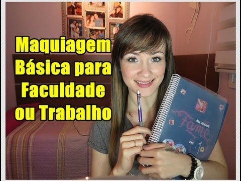 Maquiagem básica para Trabalho ou Faculdade (olhos) | Basic make-up look for work or college (eyes) by Joyce Chagas (In portuguese)