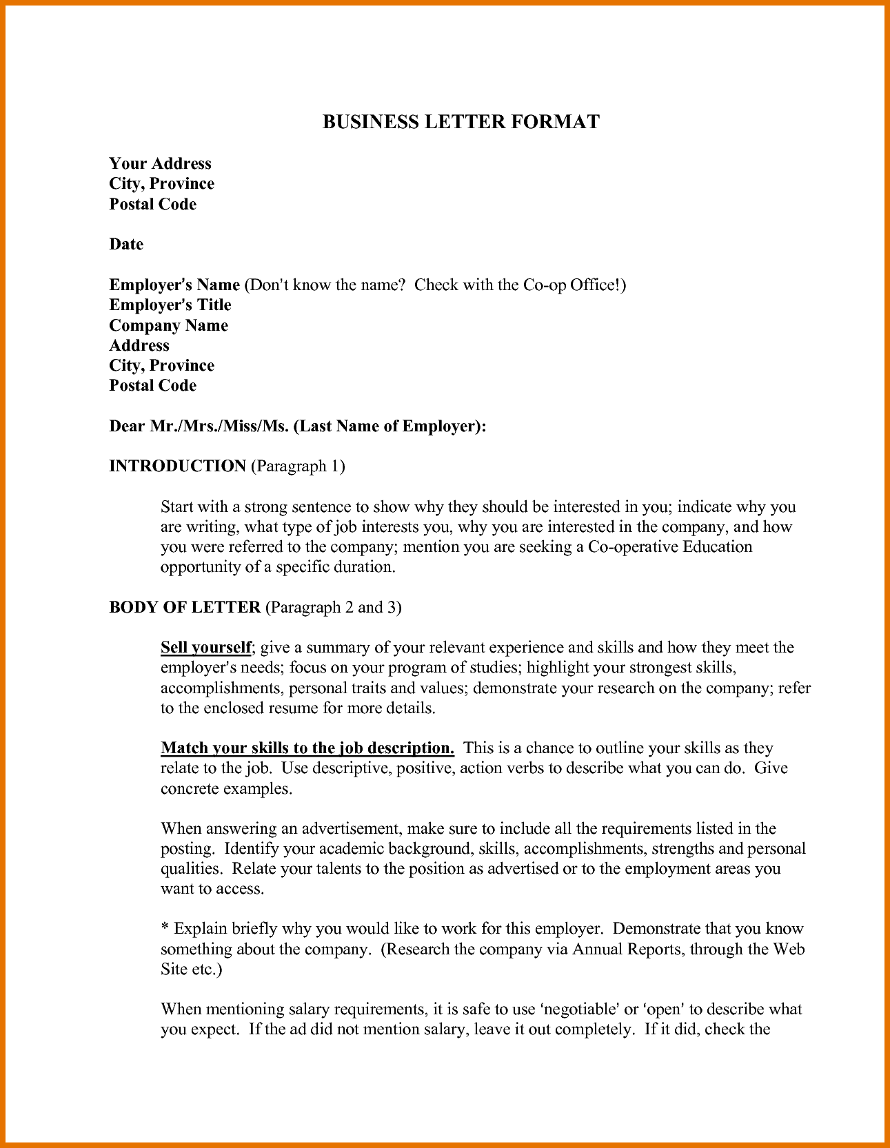 Example Business Letter Pdf Attendance Sheet Download Samples Word
