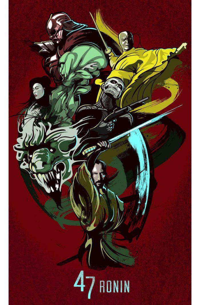 Alternative movie poster for 47 Ronin by Samuel Ho