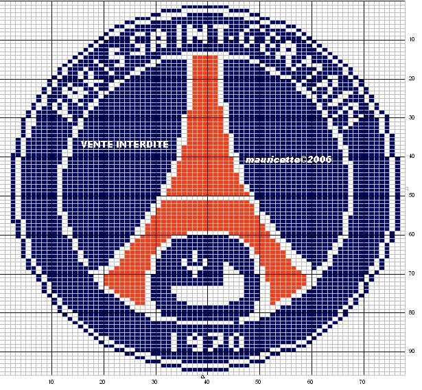 Point De Croix Psg Diy Pixel Art Point De Croix Et Logo