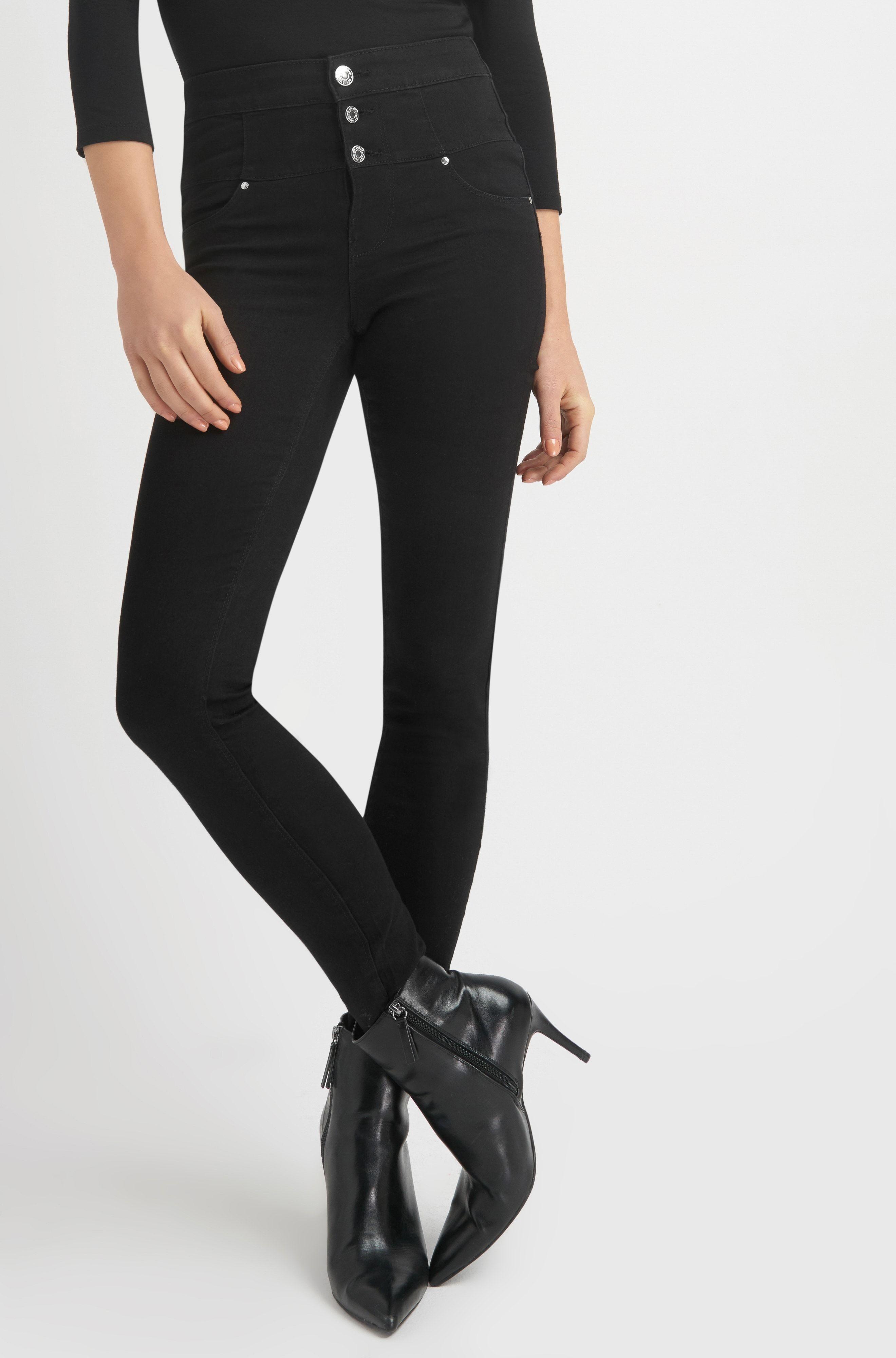 niedrigerer Preis mit Räumungspreise beste Schuhe ORSAY JEANS | Black high waist jeggings with buttons #mywork ...