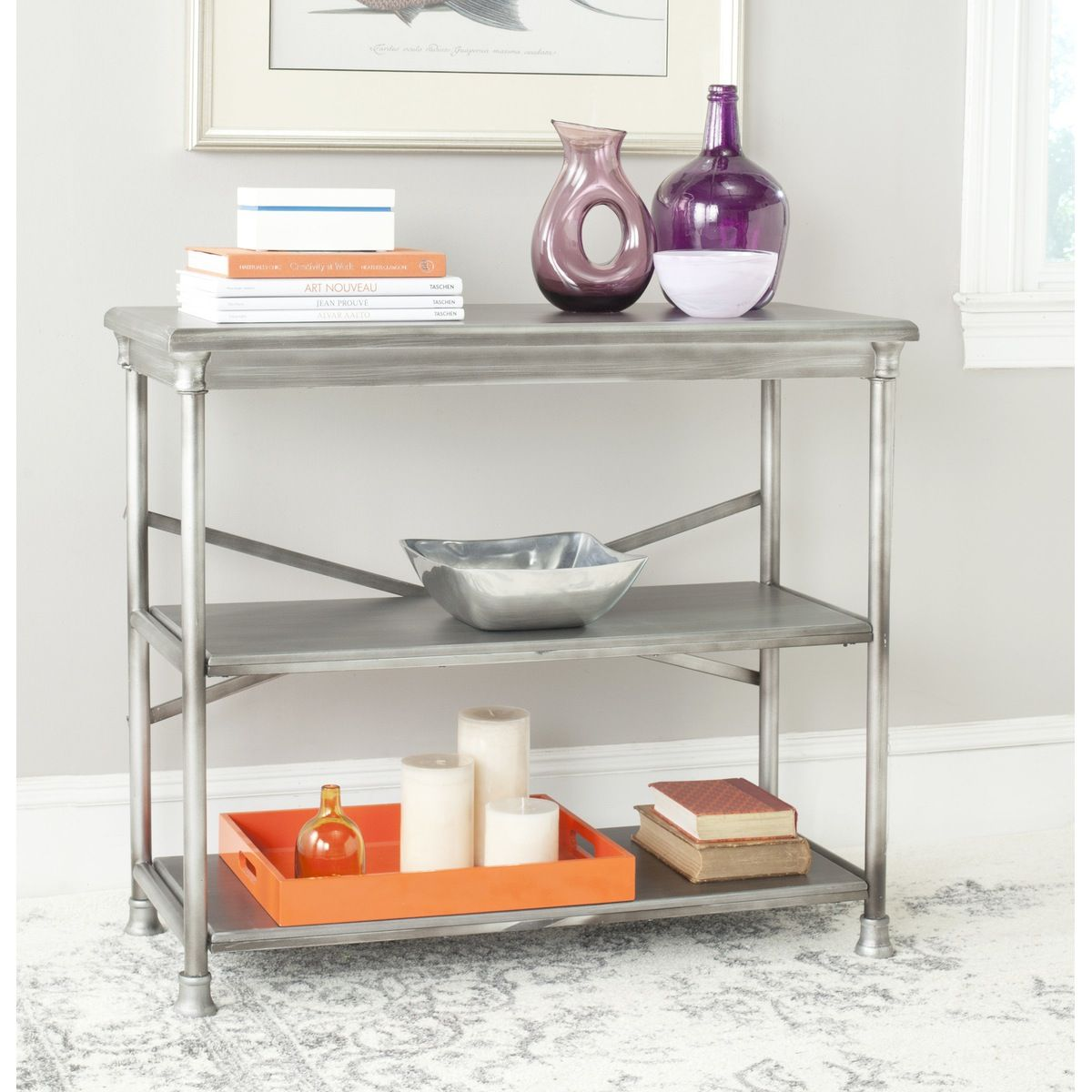 Emblematic Of The Versatility Of Transitional Style, The Jacinda Medium  Bookcase Combines Simplicity Of Line