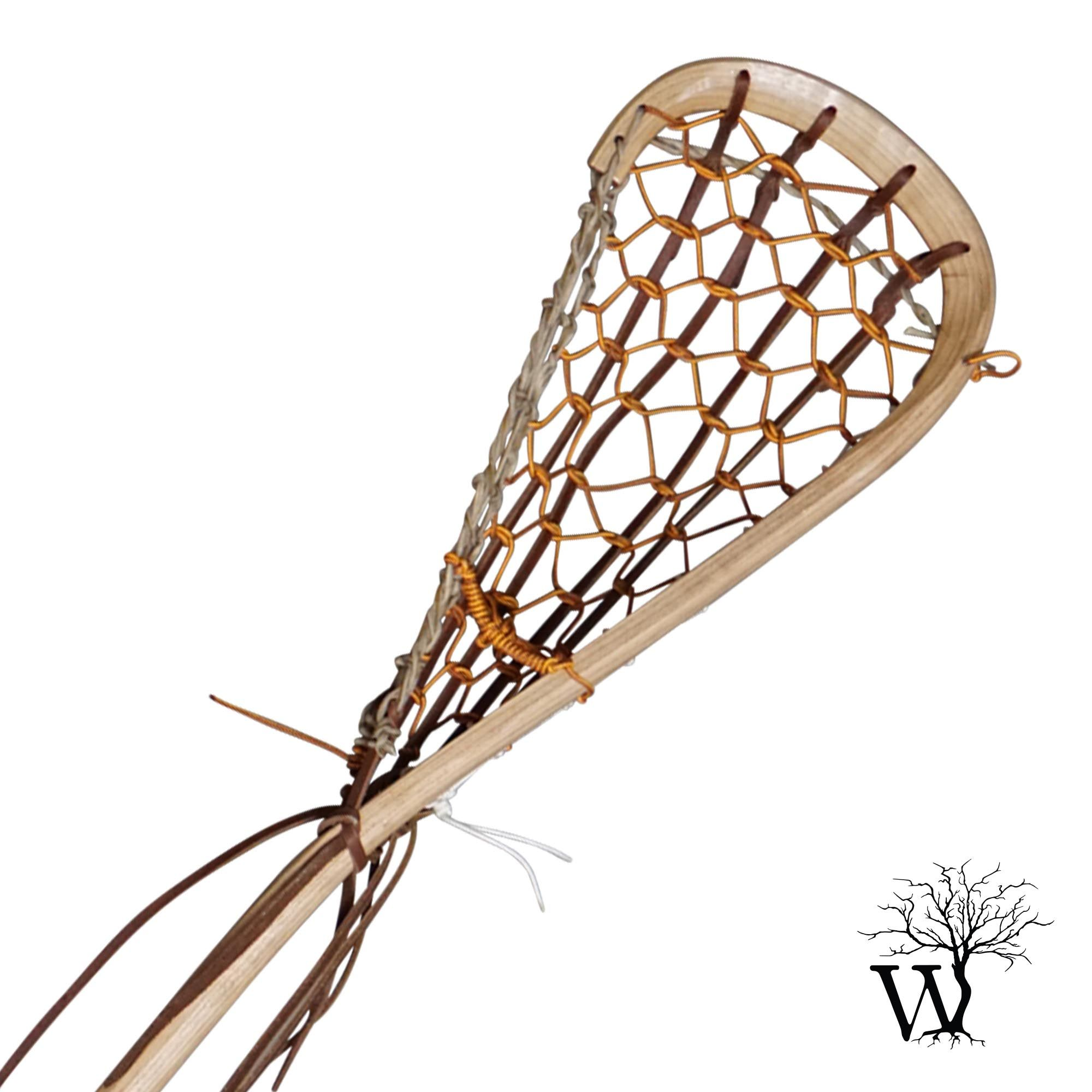 Field Wood Lacrosse Stick with Rawhide Gutwall Handmade