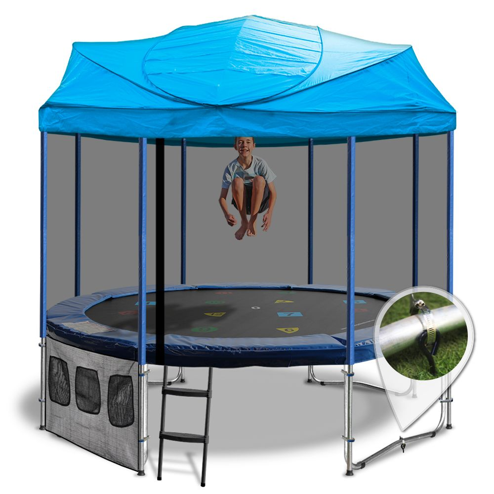 12ft trampoline roof backyard pinterest trampolines