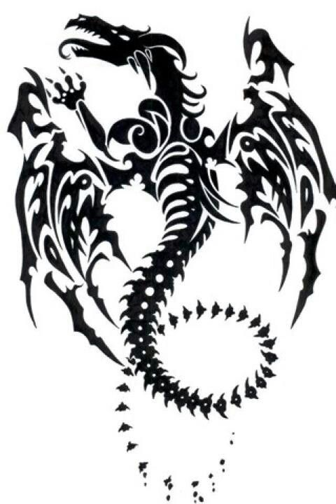 Dragon Tribal Dragon Tattoo Tribal Dragon Tattoos Dragon Tattoo