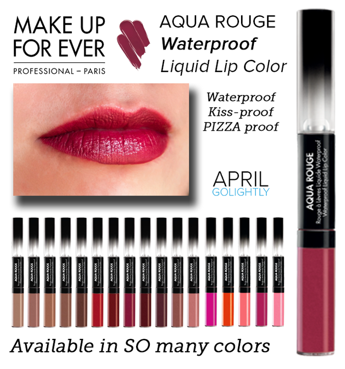 Make up For Ever Aqua rouge waterproof liquid lip color