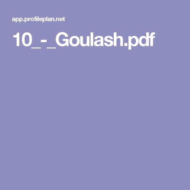 10_-_Goulash pdf   Profile by Sanford   Profile by sanford