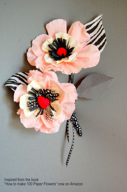 Tutorial Whimsical Paper Flowers Poppy How To Make Diy Paper