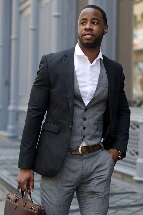 a4413519a82b5 Black & White + Gucci belt | Gents | Mens suits, Tuxedo for men, Suits