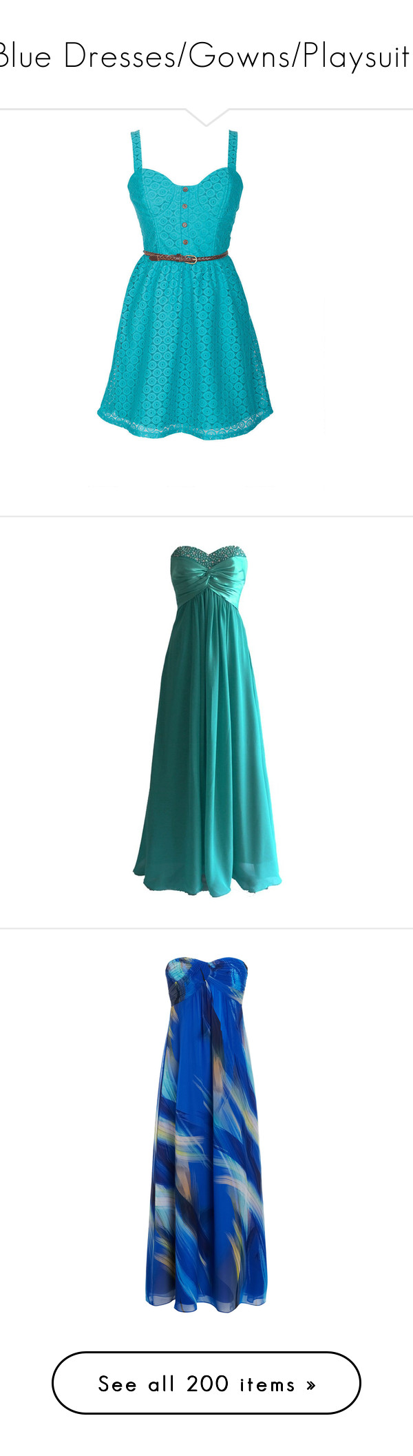 Blue Dresses/Gowns/Playsuits\
