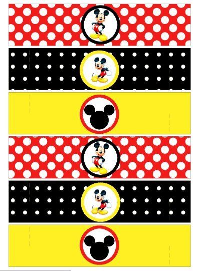 Napkin Ring - Mickey Mouse Party - printable party - digital file - free printable mickey mouse