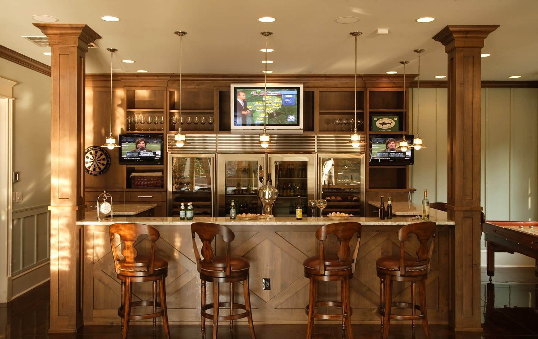 Good Basement Bar Designs Plans