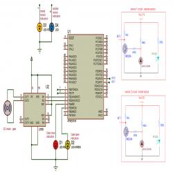circuit diagram of avr atmega16 based automatic gates controller Circuit Wiring Diagram