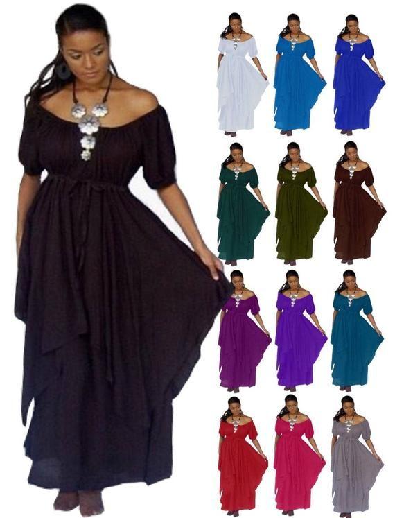 Renaissance Peasant Dress - Empire Waist Layered Plus Size ...