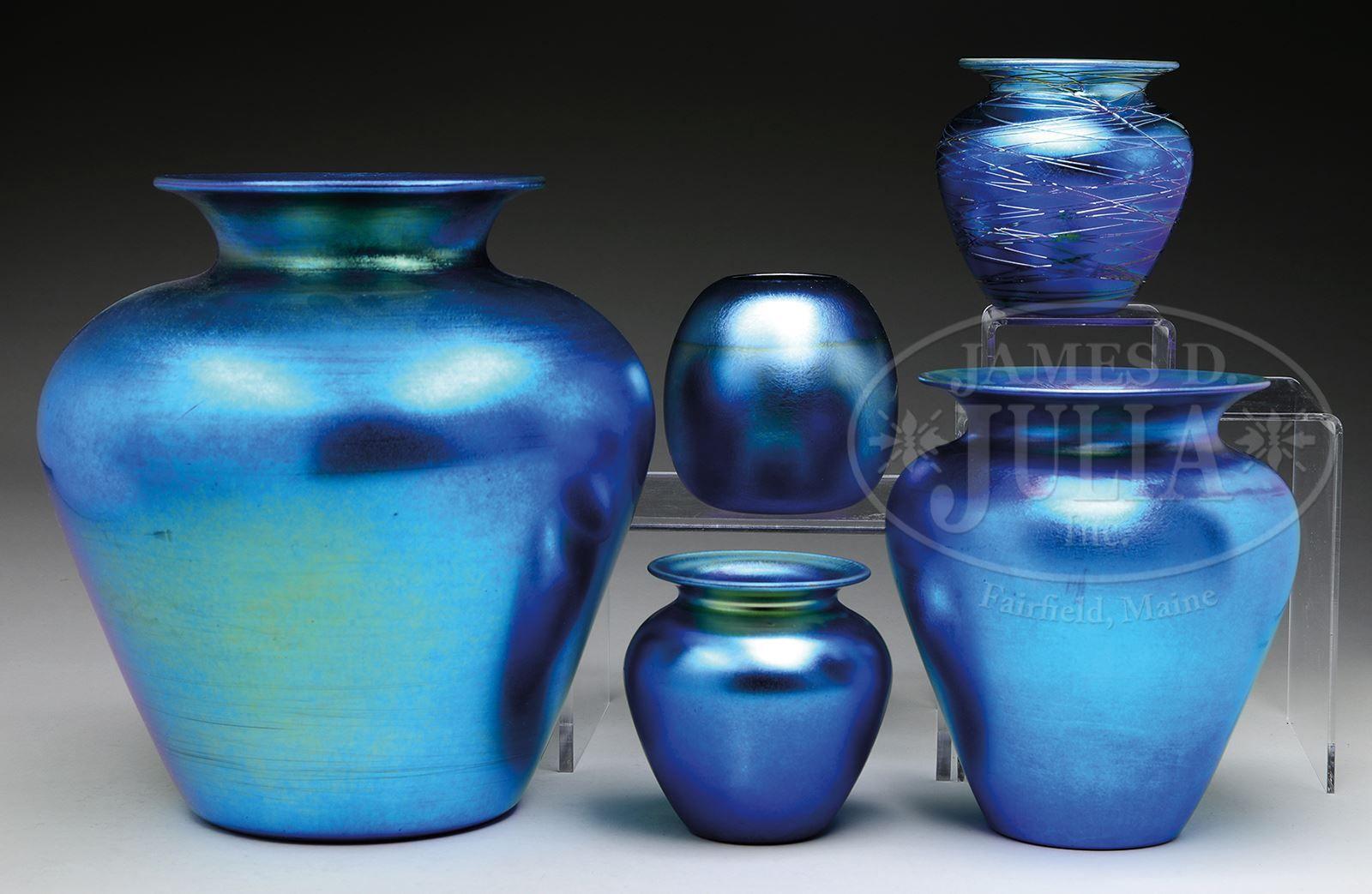 Five blue durand vases blue too pinterest platinum