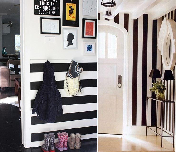 papier peint rayures monochrome fabulously monochrome striped wallpaper dreamy spaces. Black Bedroom Furniture Sets. Home Design Ideas