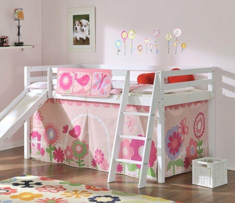 Kinderbett mit Rutsche das Hochbett wird zum Spielplatz