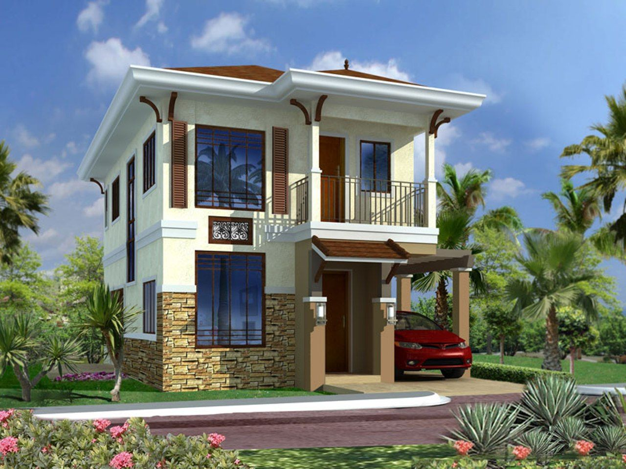Fachada de casas de dos plantas sencillas buscar con - Casas de dos plantas ...
