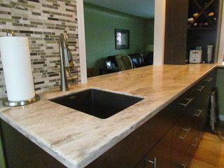 Williams Modern Kitchen Countertops Corian Sandlewood With