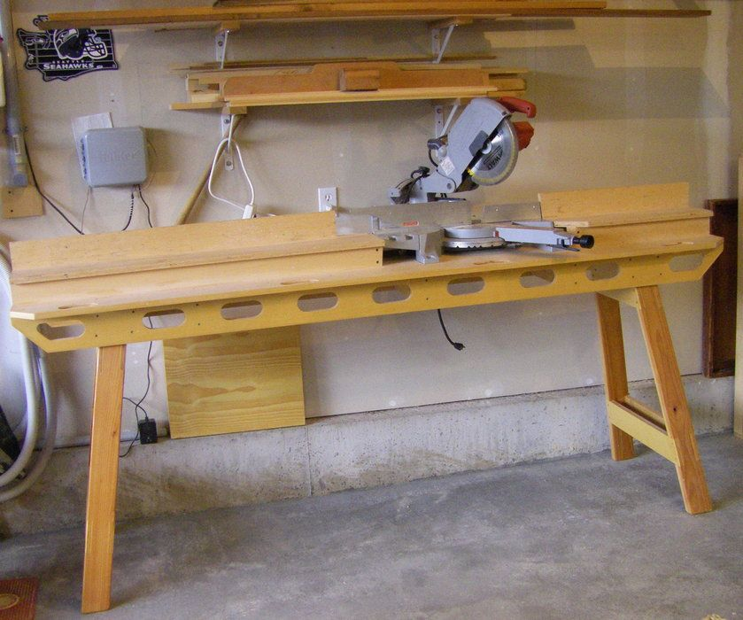 Miter saw stand by lad woodworking for Table saw workbench woodworking plans
