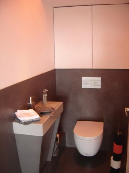 Bicolor toilets with white and grey | décoration pour toilette ...