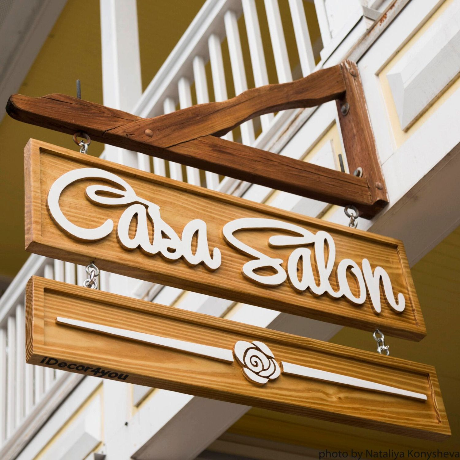 Carved Wood Business Sign Advertising Outdoor Signage Company Name