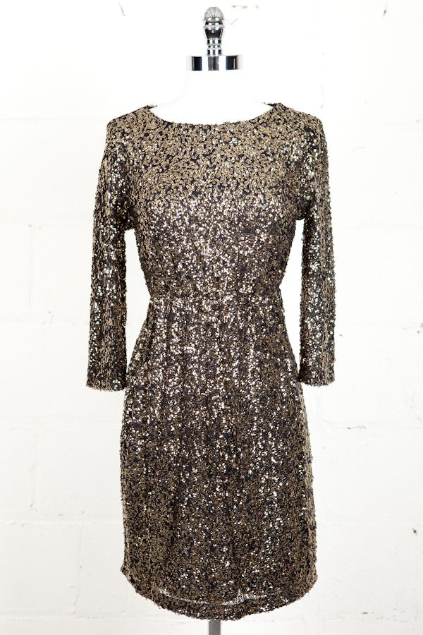 Gold Sequin Dress Winter Wedding