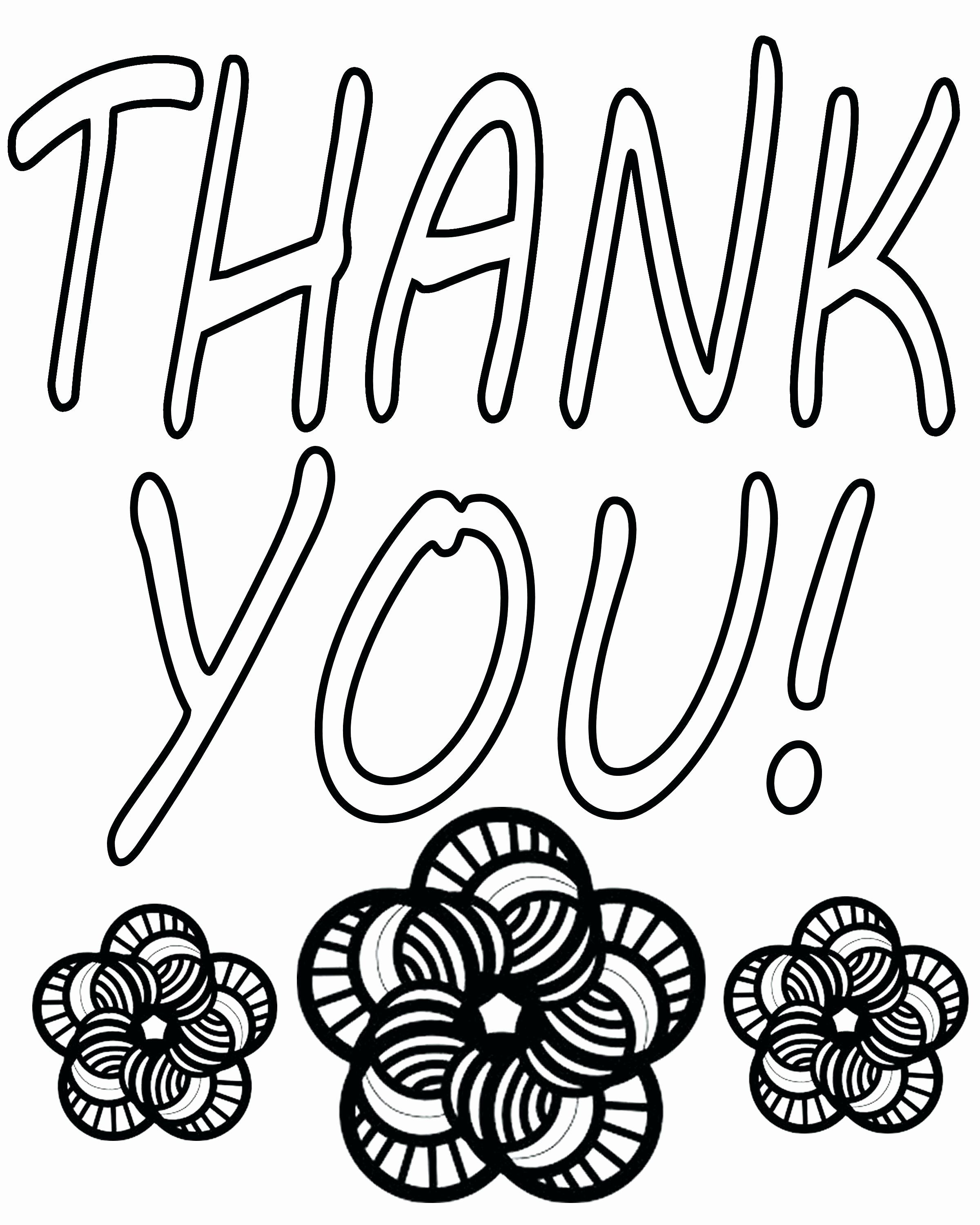 Coloring Thank You Cards In 2020 Coloring Pages For Kids