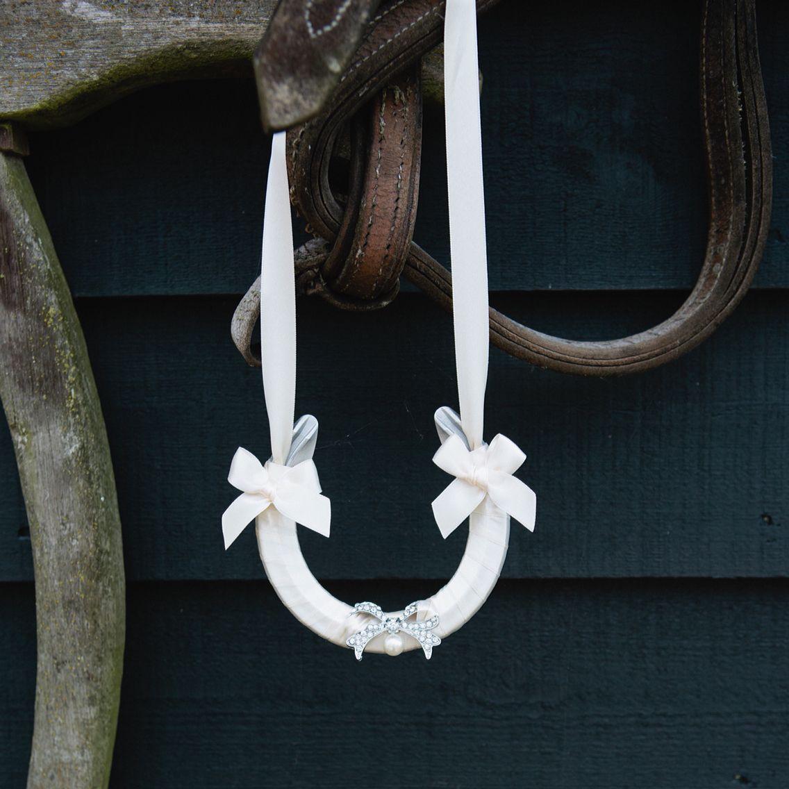 Vintage Bow lucky wedding horseshoe by Atelier Rousseau Bridal