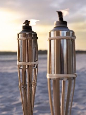 Let the night fall... Torches made out of bamboo