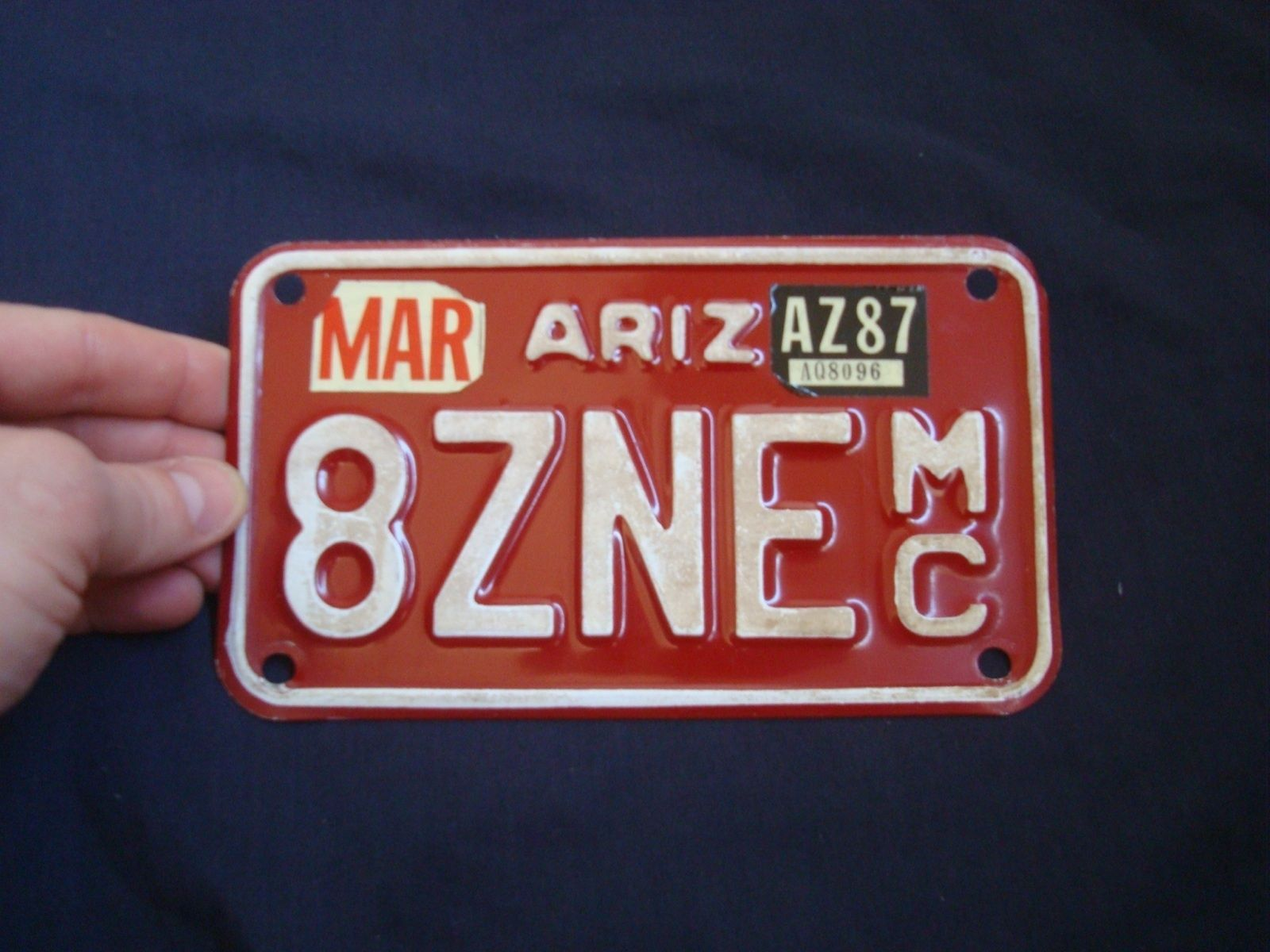 1987 arizona motorcycle 8zne vintage motorcycle license