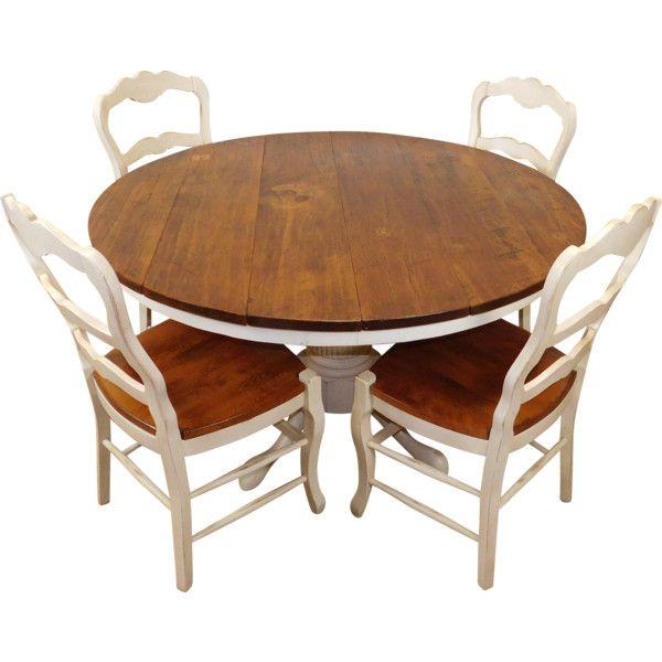 Fantastic Rustic Primitive Pine  White 53 Round Kitchen Dining Room