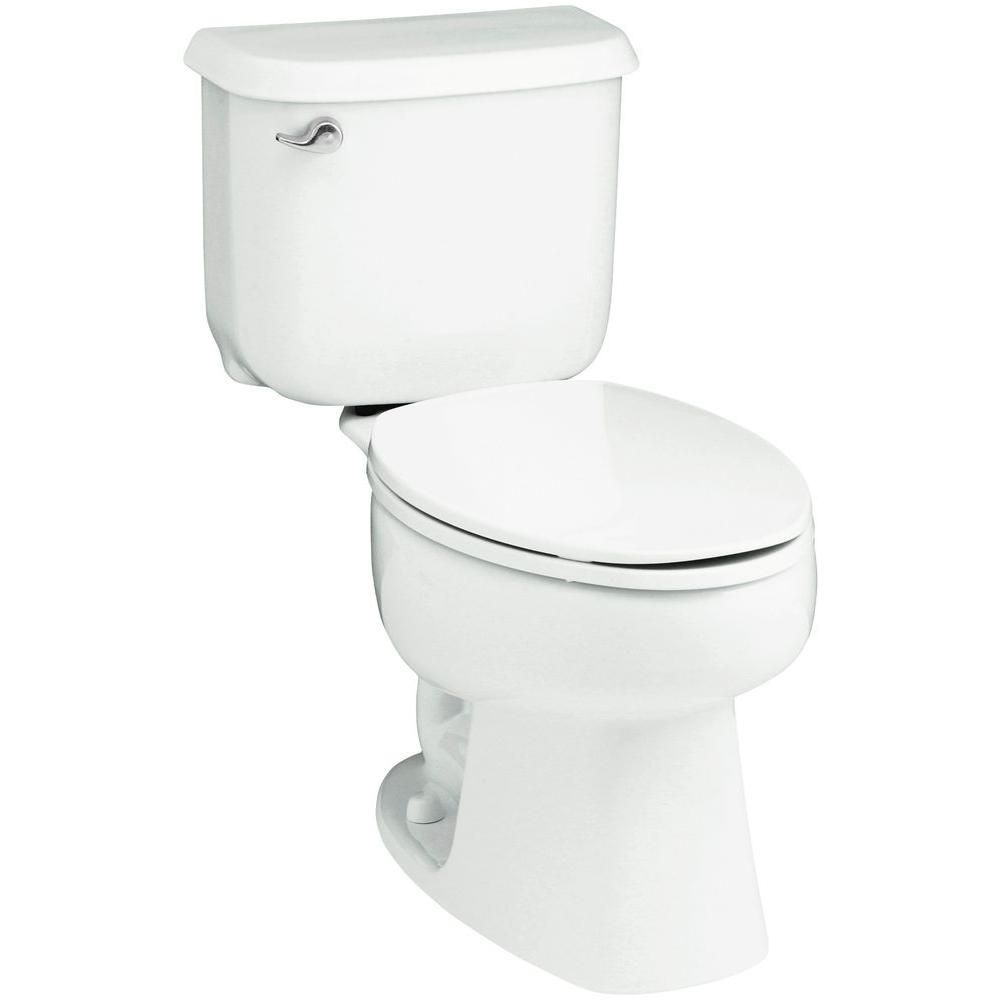 Sterling Windham 10 In Rough In 2 Piece 1 6 Gpf Single Flush Elongated Toilet In White 402210 0 Modern Toilet Toilet White Toilet Seats