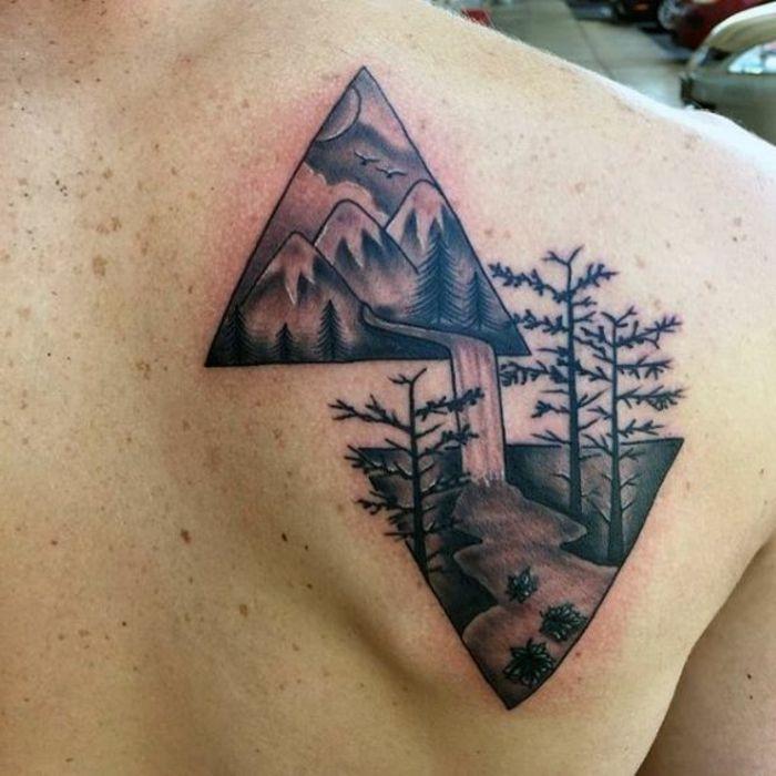 1001 + dessins originaux de tatouage montagne. tatoo homme