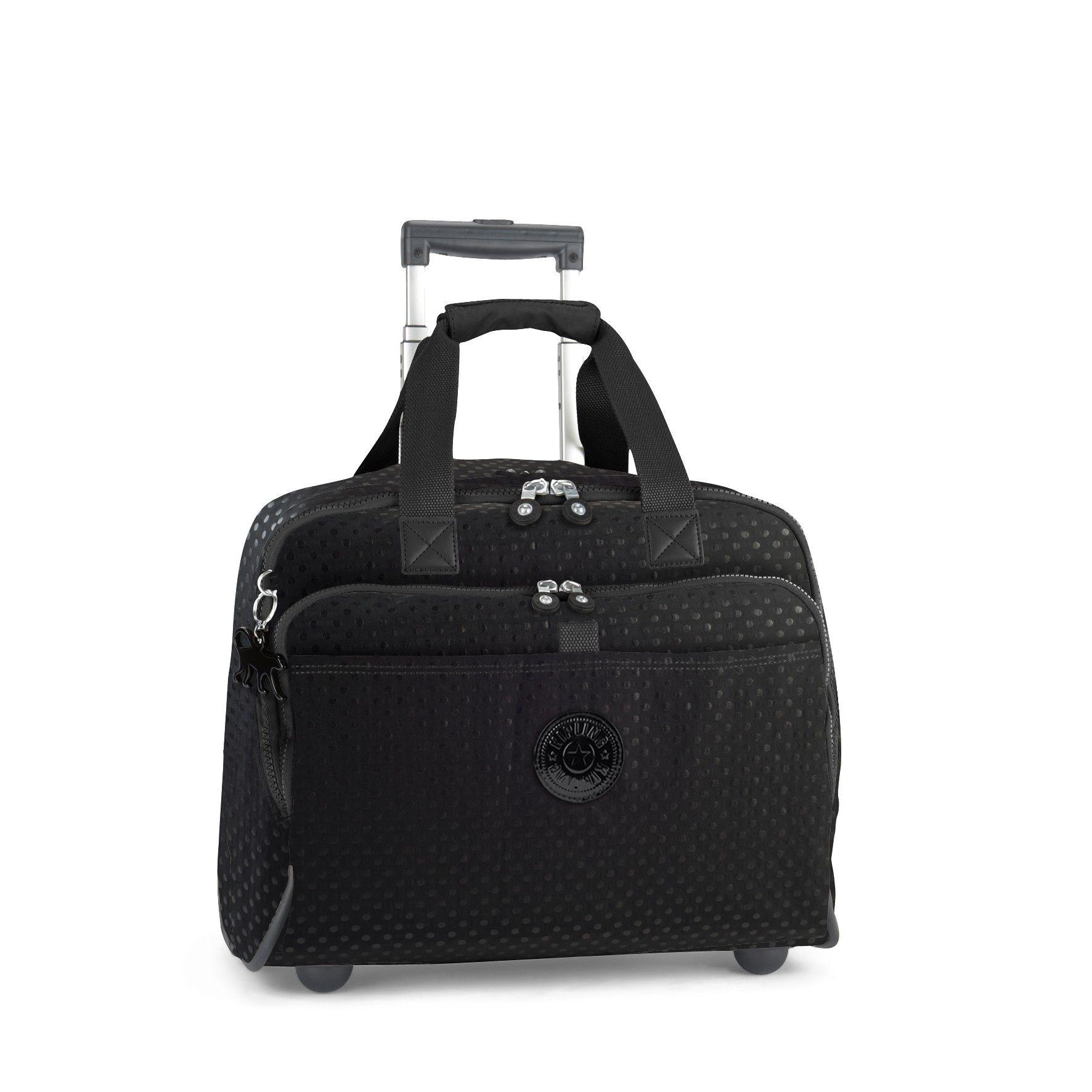 58761fbcd5 Kipling - NEW CEROC WL Black dots Wheeled working bag | Lookbook ...