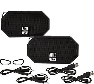 Altec Lansing S 2 Mini H2o Waterproof Bluetooth Speakers Qvc Com
