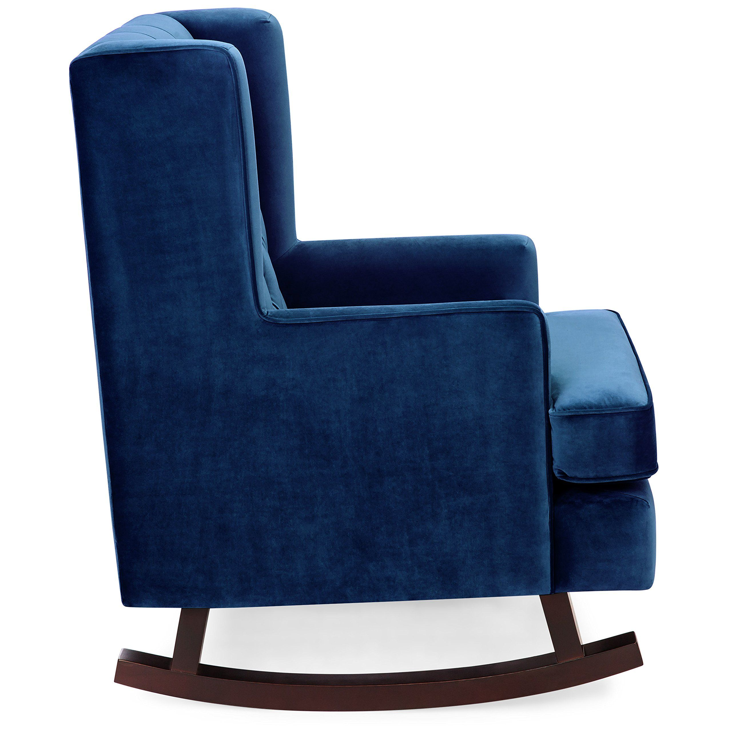 Best Choice Products Tufted Luxury Velvet Wingback Rocking Accent
