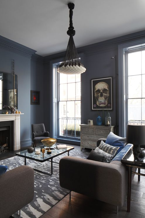 Best The Perfect Smoky Blue Walls Paint Color Inspiration In 2019 Living Room Decor Home Living 640 x 480