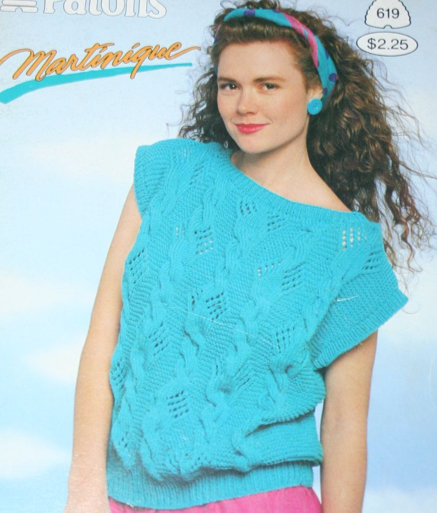 Sweater Knitting Patterns Summer Martinique Beehive Patons 619 Women ...