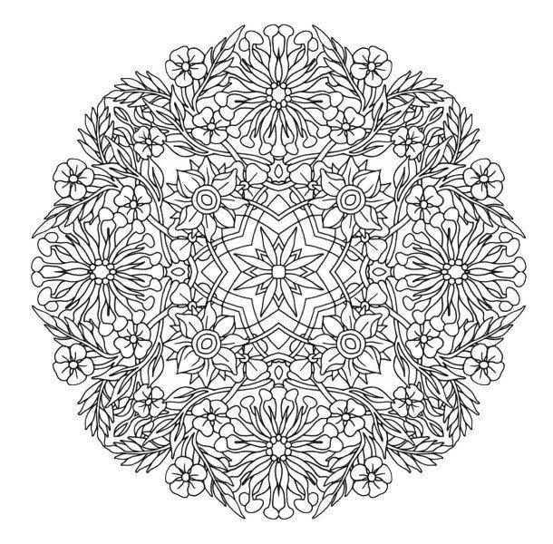 Mandala Flowers Mandala Coloring Pages Mandala Coloring Flower Coloring Pages