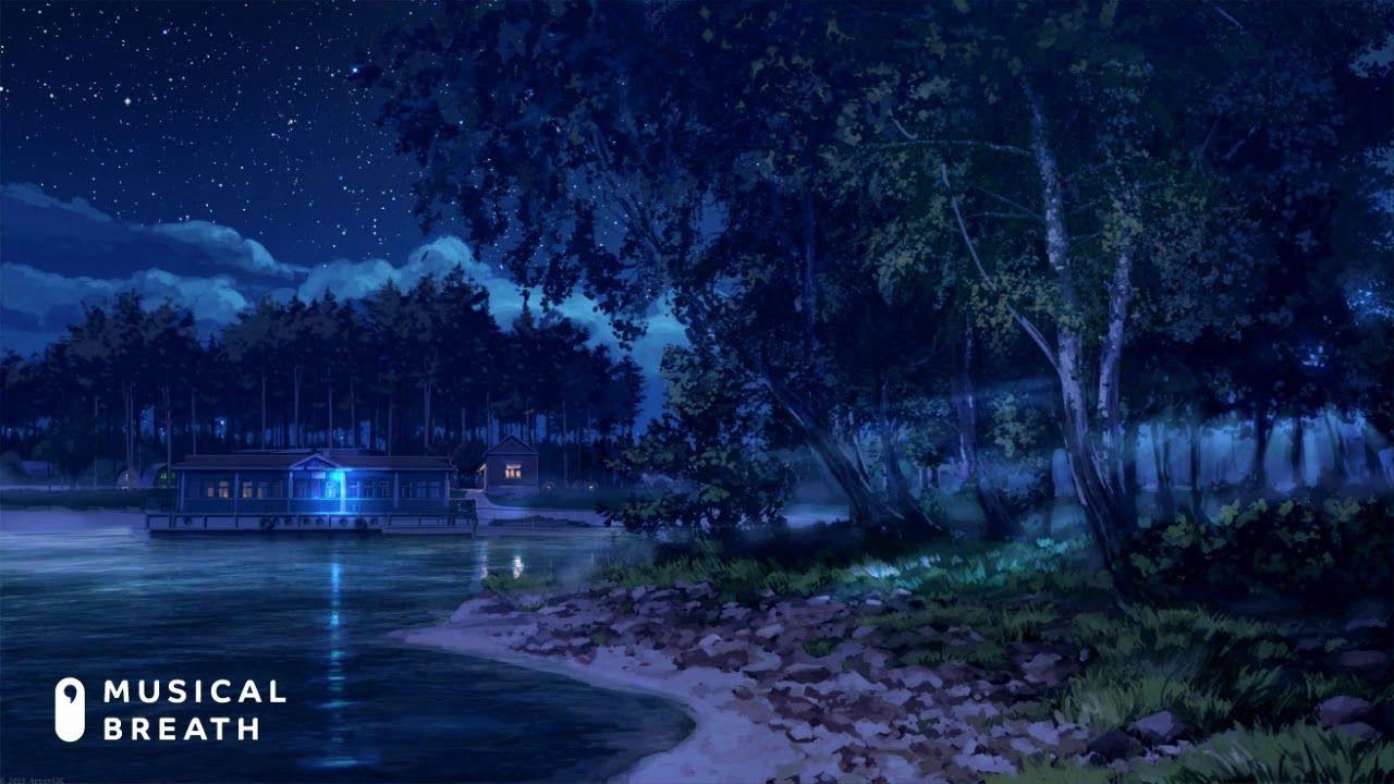 Musical Breath Lounge Summer Night Chill Study Beat Jazz Fusion Dark Landscape Anime Scenery Scenery Wallpaper