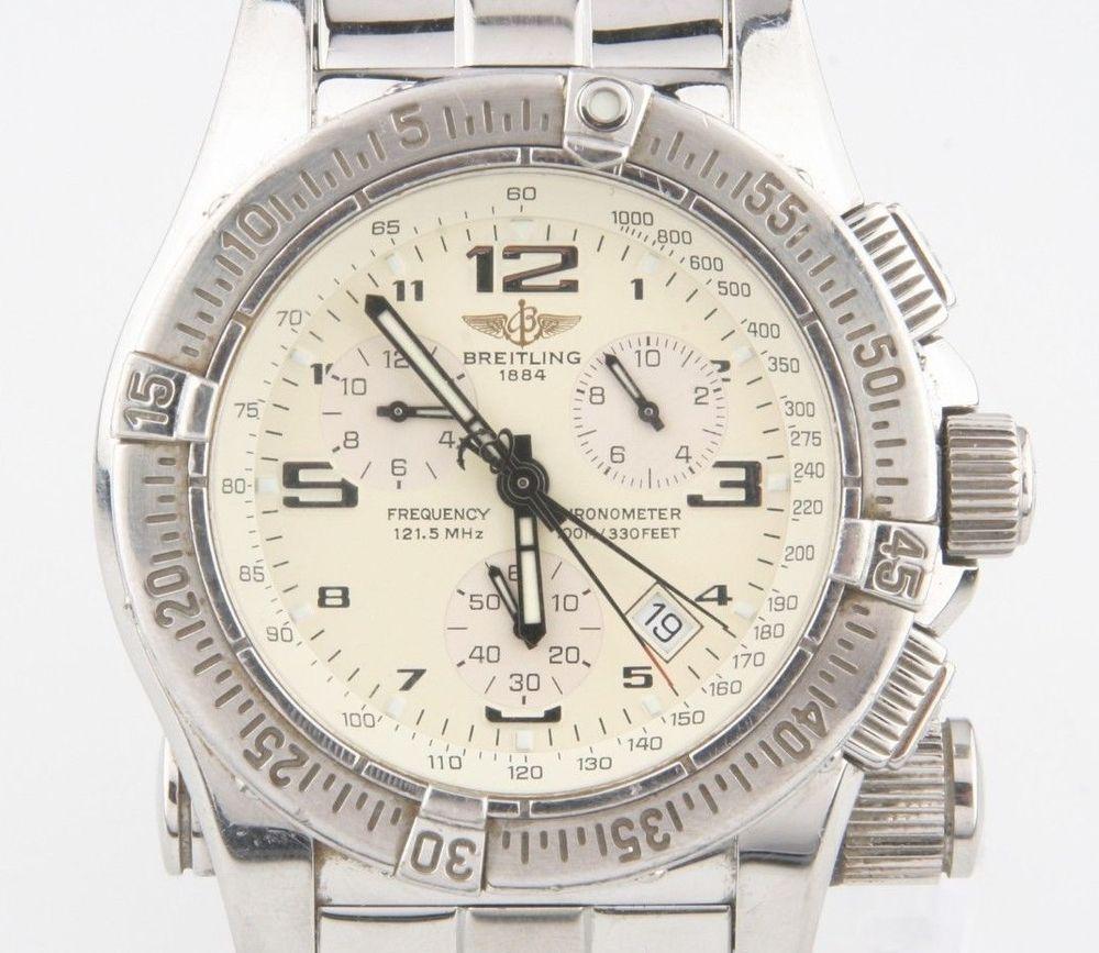 Breitling Men's Emergency Mission Chronograph Quartz Watch Original Box A73321 #Breitling #LuxurySportStyles