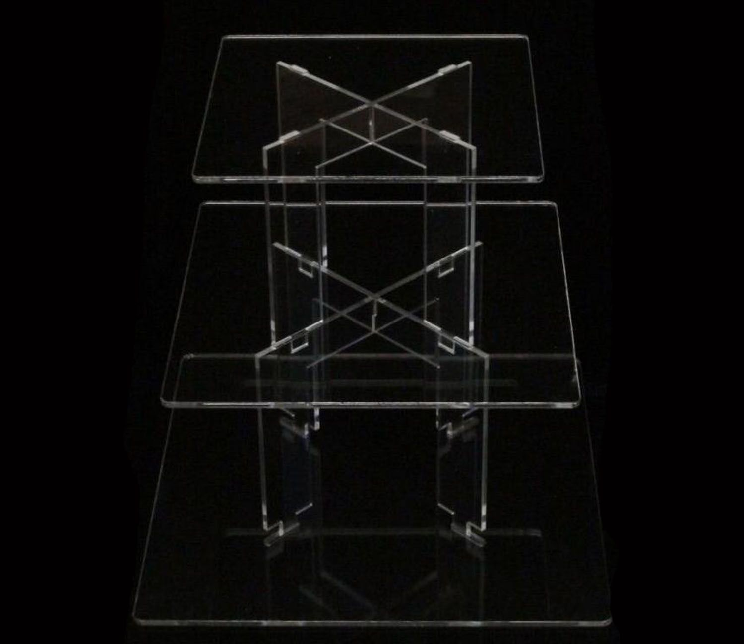 Tk tier square clear acrylic cupcake party wedding cake display