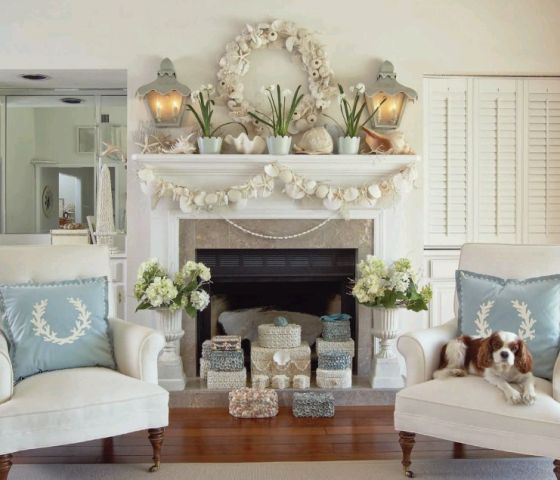 Country Christmas Mantels: Mantels, The Flowers And Chairs