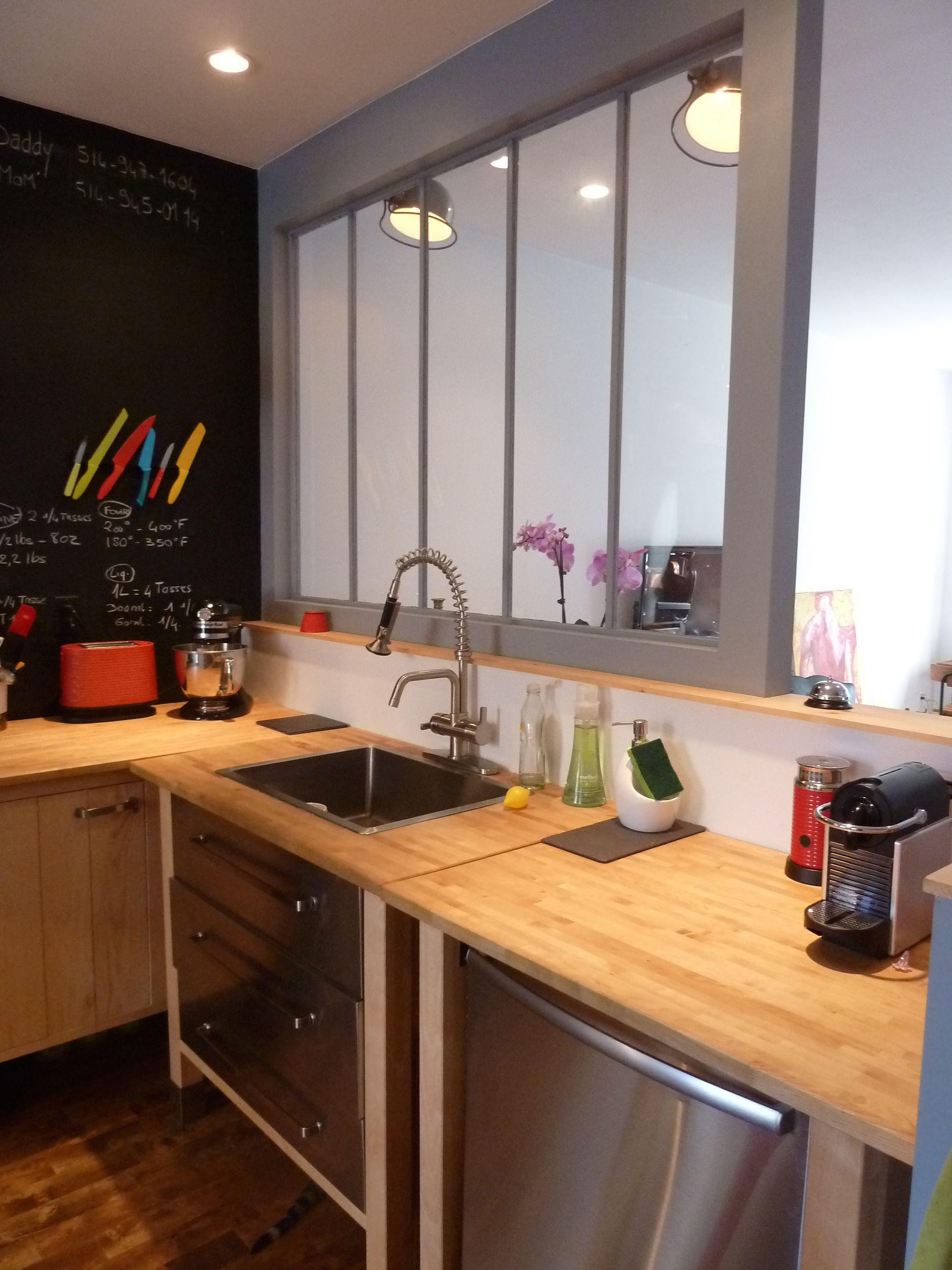 R novation de cottage sur le plateau cuisine avant apr s verri res pinterest interieur for Verriere interieure cuisine