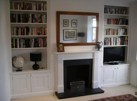 Cupboards In Chimney Alcove