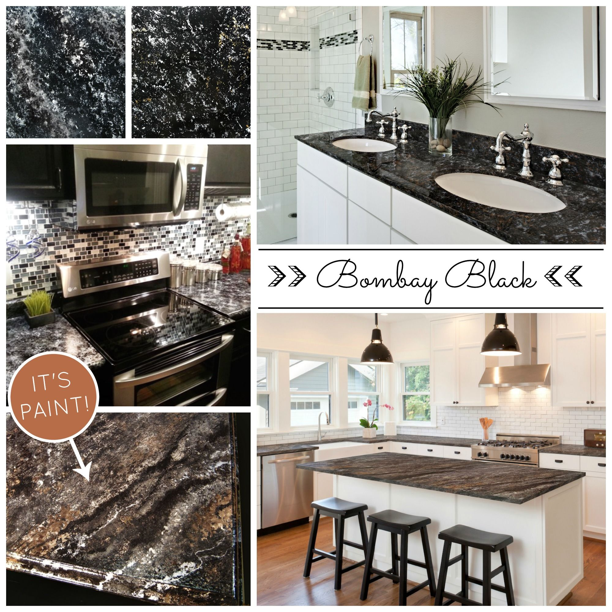 Beautiful And Affordable Painted Countertops Diy Countertop Paint