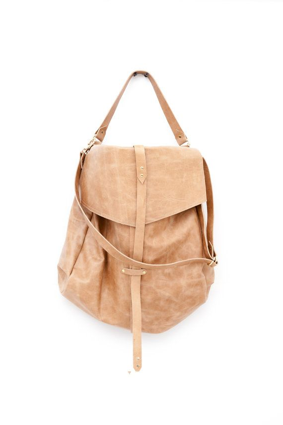 Brown leather bag- Hobo bag