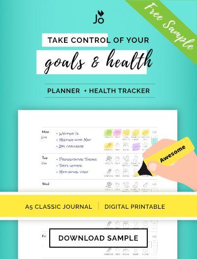 Health  Wellness Weekly Planner  Goals Journal - Free Printable