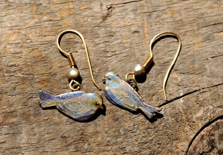 Shimmery Bird Earrings